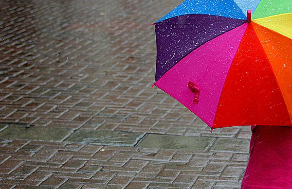 Радуга и зонт
