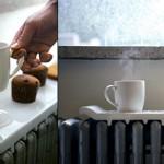 Радиатор отопления можно использовать для подогрева напитков.