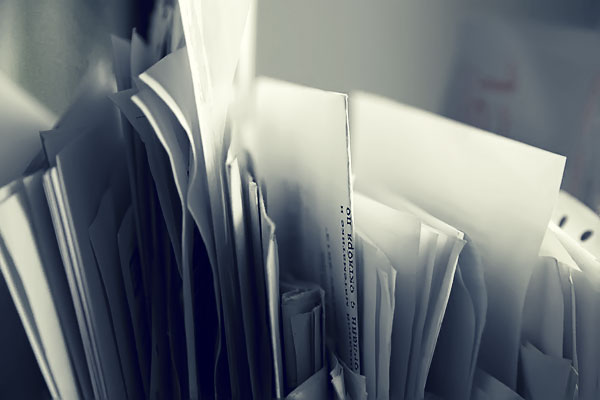 Папка с документами.