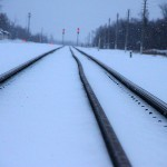 Железнодорожные рельсы.