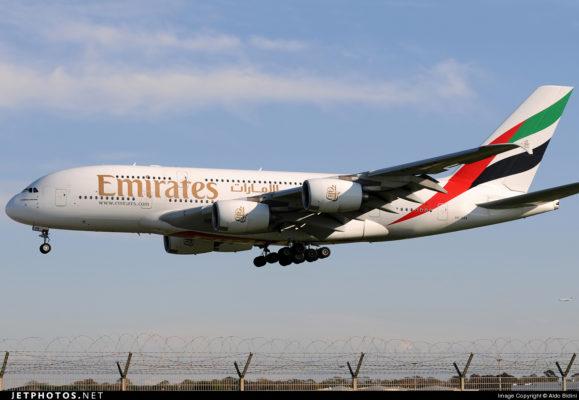 A6-EDA Airbus A380-861 Emirates Aldo Bidini.