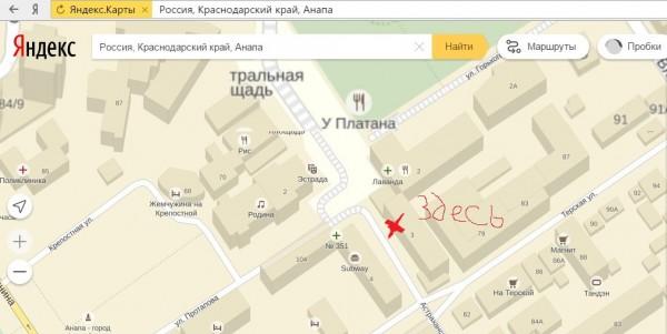 Карта места