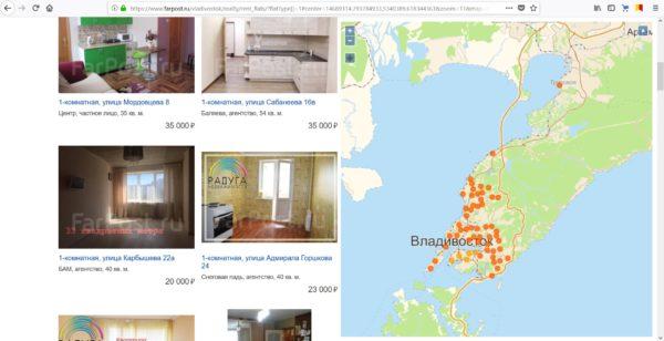 Стоимость аренды жилья во Владивостоке 2018